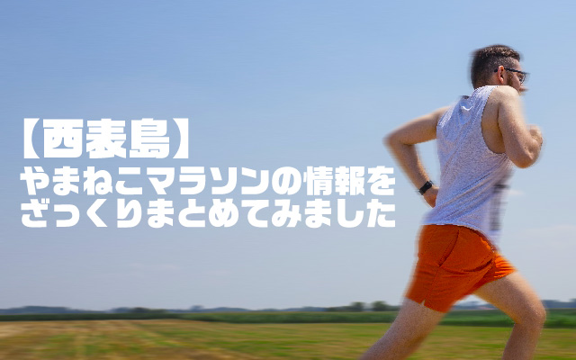 【西表島】やまねこマラソンの情報をざっくりまとめてみました