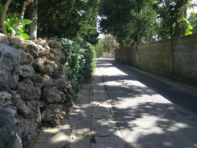 石垣の残る風景
