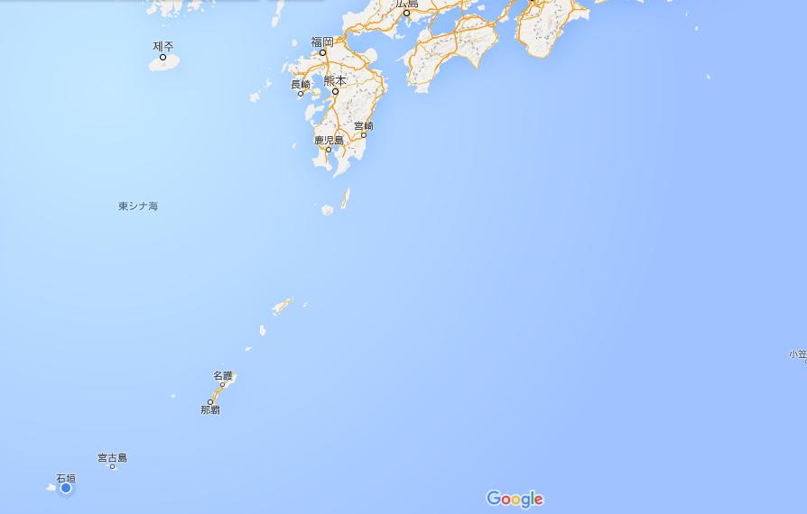 石垣島の位置は地図でチェック