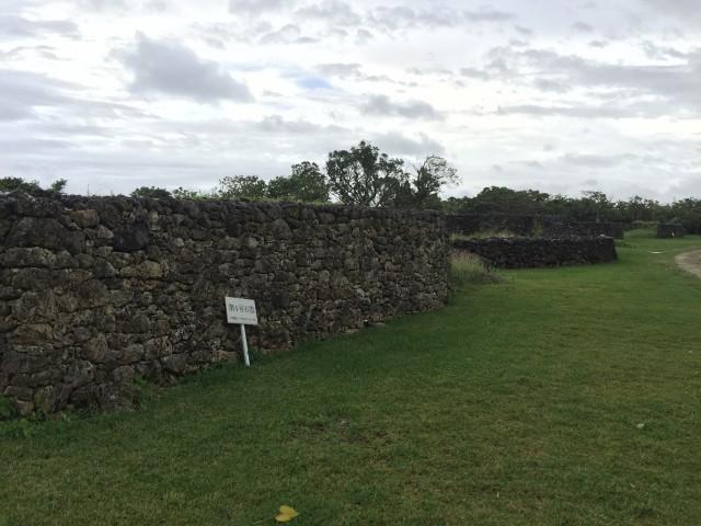 フルスト原遺跡 復旧された石垣