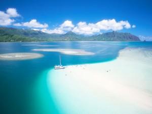 カネオヘ湾沖(ハワイ)サンドバー
