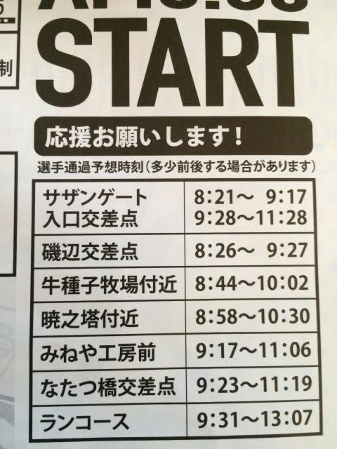 石垣島のアスリートさんたちが通る予定時間