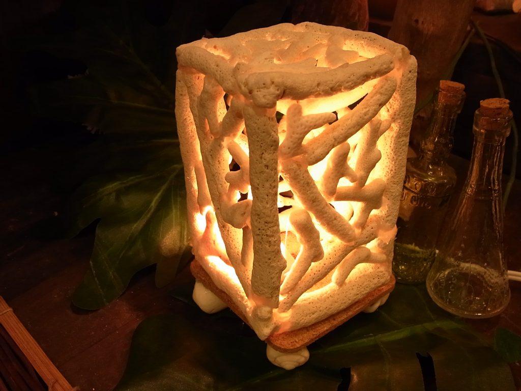 長方形のランプはサンゴ
