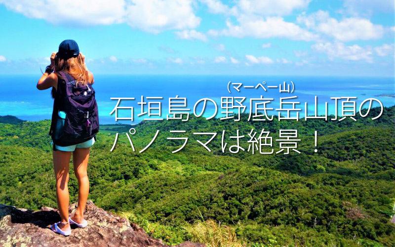 石垣島の野底岳(マーペー山)山頂のパノラマは絶景!