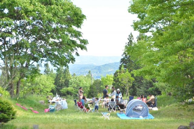 バーベキュー可能なキャンプ場