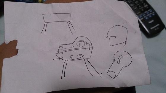 ポータブルピザ窯の設計図