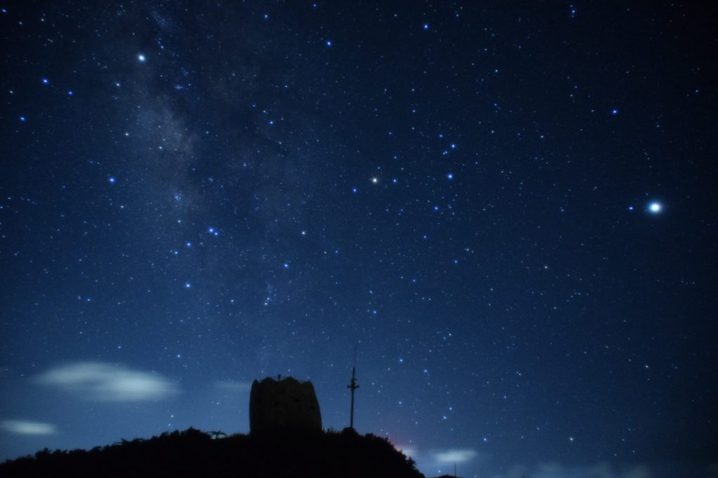 石垣島で撮影した「天の川」
